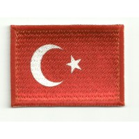 Patch embroidery and textile FLAG TURKEY 4CM x 3CM