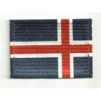 Parche bordado y textil BANDERA ISLANDIA 4CM x 3CM