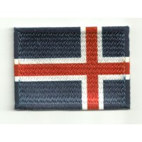 Patch embroidery and textile FLAG ICELAND 4CM x 3CM
