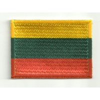 Patch embroidery and textile FLAG LITHUANIA 4CM x 3CM