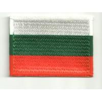Parche bordado y textil BANDERA BULGARIA 7CM x 5CM