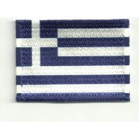 Patch embroidery and textile FLAG GREECE 4CM x 3CM