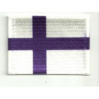 Parche bordado y textil BANDERA FINLANDIA 7CM x 5CM