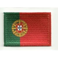 Parche bordado y textil BANDERA PORTUGAL 4CM x 3CM