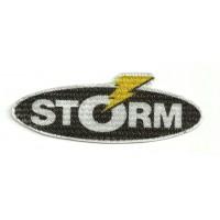 Textile patch STORM 9.5cm x 3.5cm