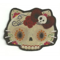Textile patch KITTY CALAVERA 9CM X 7CM
