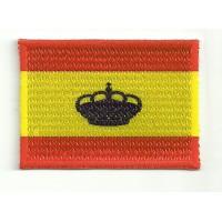 Parche bordado y textil BANDERA NAUTICA ESPAÑA AZUL 4cm x 3cm