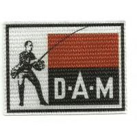 Parche textil D.A.M. 9cm x 6.5cm