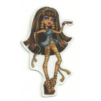 Parche textil MONSTER HIGH CLEO DE NILE 8cm x 3cm