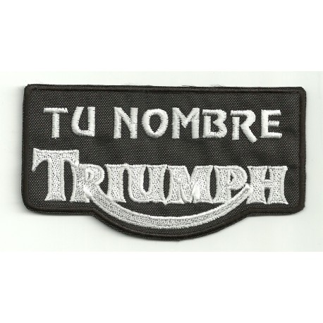 Embroidery Patch TRIUMPH CON TU NOMBRE 10cm X 5,5cm