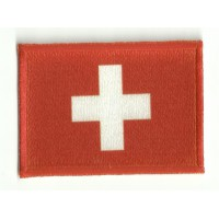Patch embroidery and textile FLAG SWITZERLAND 4CM X 3CM