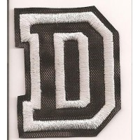 Patch embroidery LETTER D 5cm high