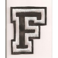 Patch embroidery LETTER F 5cm high