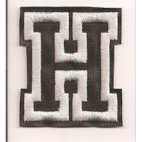 Patch embroidery LETTER H 5cm high