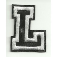 Patch embroidery LETTER L 5cm high