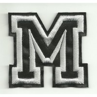 Patch embroidery LETTER M 5cm high