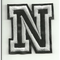 Patch embroidery LETTER N 5cm high