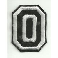Patch embroidery LETTER O 5cm high