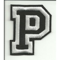 Patch embroidery LETTER P 5cm high
