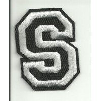 Patch embroidery LETTER S 5cm high